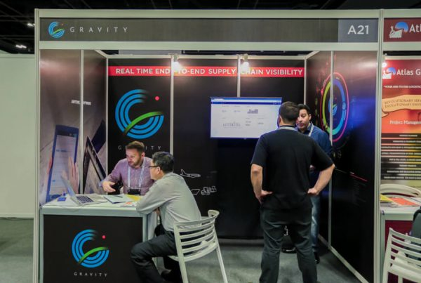 Gravity's booth at the 9th WCA Worldwide Conference in Singapore