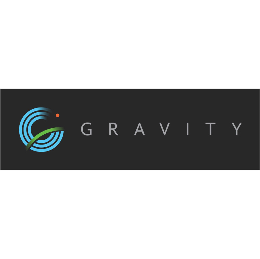 Gravity Logo with black background