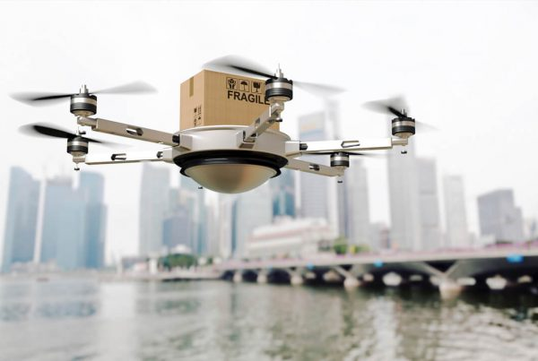 Drone Delivering Package, Supply Chain